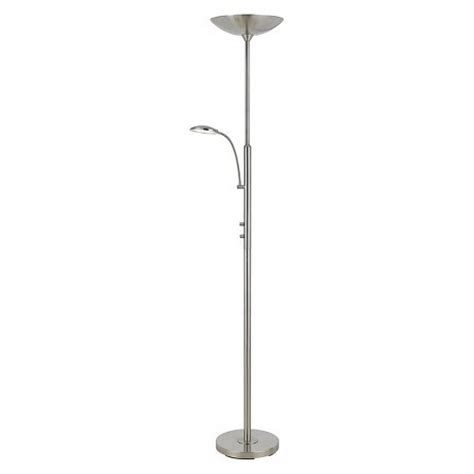 torchiere floor l with reading light cal lighting led torchiere floor l with led reading