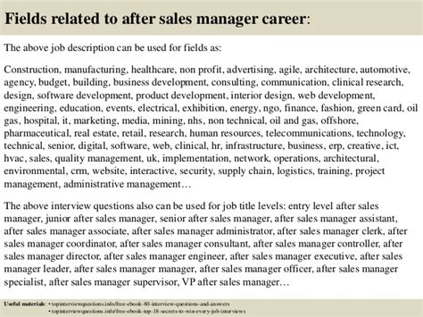 top 10 after sales manager questions and answers