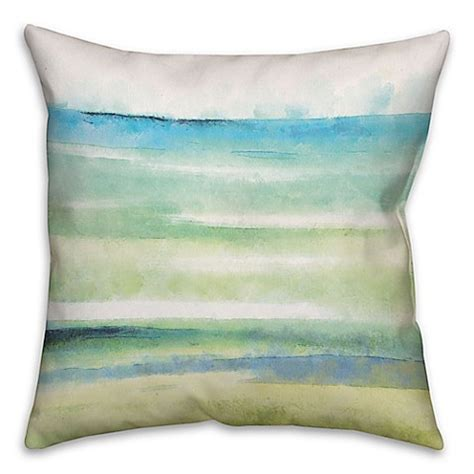 Cool Sofa Pillows Cool Watercolor 18 Inch Square Throw Pillow In Blue Bed Bath Beyond