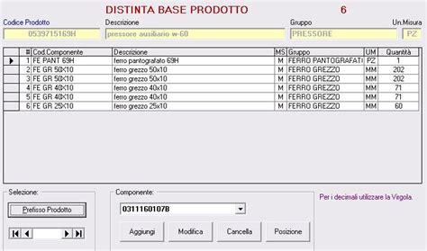 configuratore mobili gestione produzione gestprod prodotti e lotti prodotti