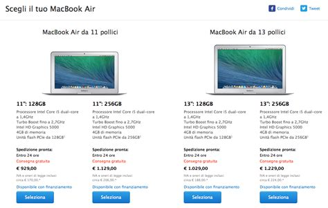 Macbook Air Di Australia i nuovi macbook air aggiornati con prezzo inferiore di 100