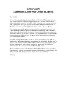 Financial Aid Appeal Letter Suspension Best Photos Of Financial Aid Appeal Letter Sle