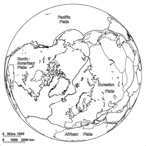Earth Arctic Coloring Page Arctic Ocean Plates