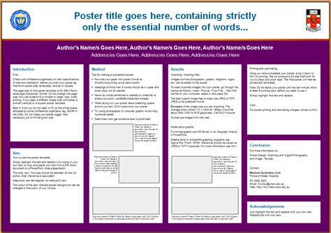 posterpresentations templates academic poster presentation template templates data