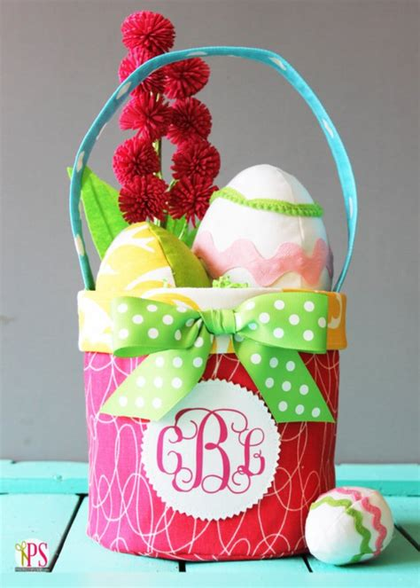 pattern for fabric easter basket 38 easy easter basket tutorials to make free templates