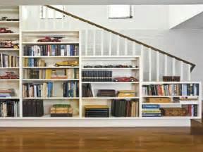 Built In Bookshelves Stairs Cabinet Shelving Diy Built In Bookshelves Stairs Diy