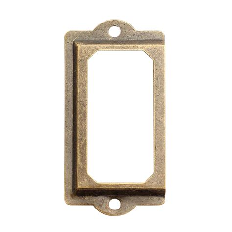 file cabinet label holders 12pc antique brass file cabinet label name holder plan chest drawer cabinet pull ebay