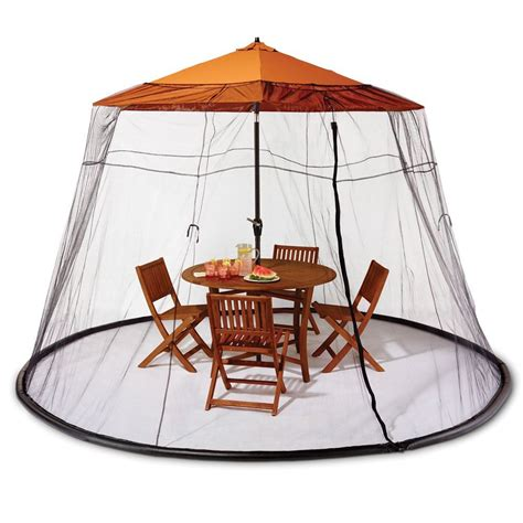 Patio Umbrella With Screen Enclosure New Patio Picnic 7 5 Ft Umbrella Table Screen Enclosure Keep Bugs Mosquitoes Net