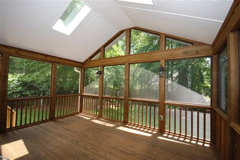 sun room screen room ideas traditional porch other metro by toned homes southwest a c screened porch ideas