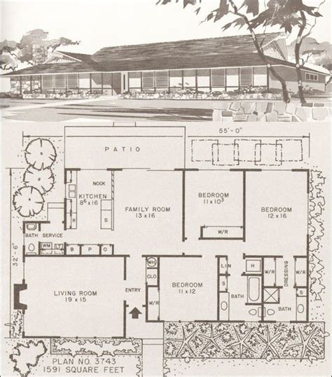mid century ranch house plans home modern houses and house plans on pinterest