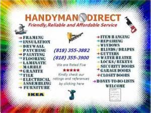 handyman business card exles handyman nuys sherman oaks granada 818 355 3882