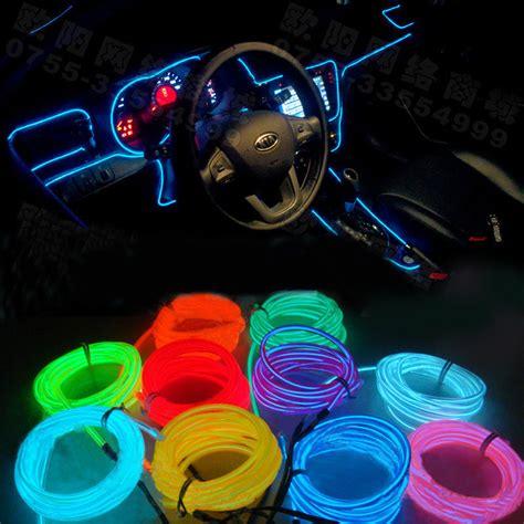 Interior Neon Car Lights by Diy Decoration 12v Auto Car Interior Led El Wire Rope