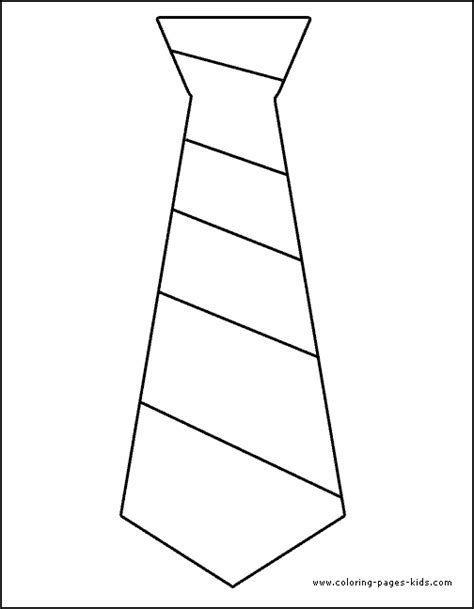 Free Coloring Pages Of Neck Tie Tie Coloring Page
