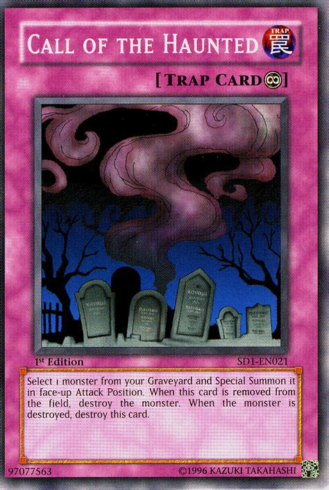 Yugioh Call Of The Haunted Original call of the haunted sd1 en021 non holo at yu gi oh cards net