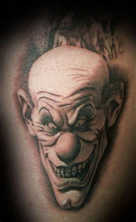 Evil Clown By Francisco Sanchez Tattoonow Tattoos Of Evil Clowns