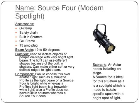 types of stage lighting fixtures stage lighting powerpoint