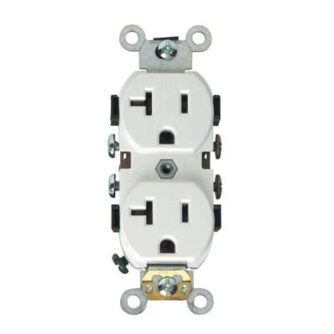 leviton 20 duplex outlet white r52 05352 0ws the