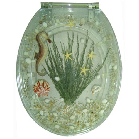 Decorative Elongated Toilet Seats by Decorative Toilet Seat Seahorse Design Elongated Potty
