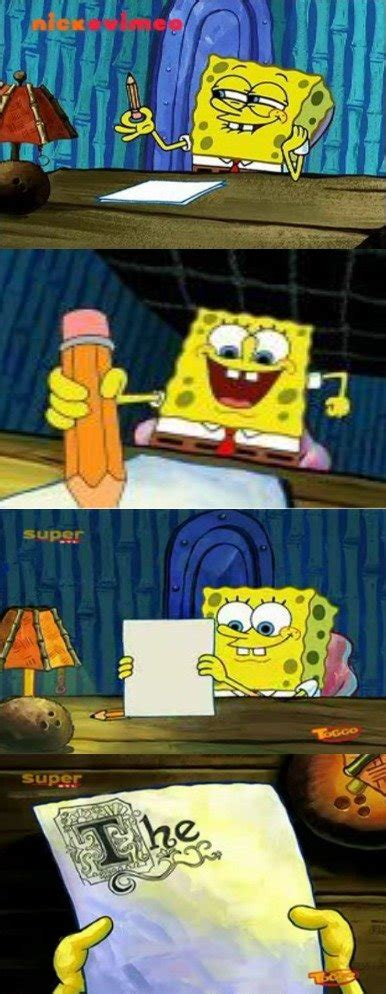 Spongebob Doing Essay by Melting Activities Lessons And Ideas In Your Class Writing