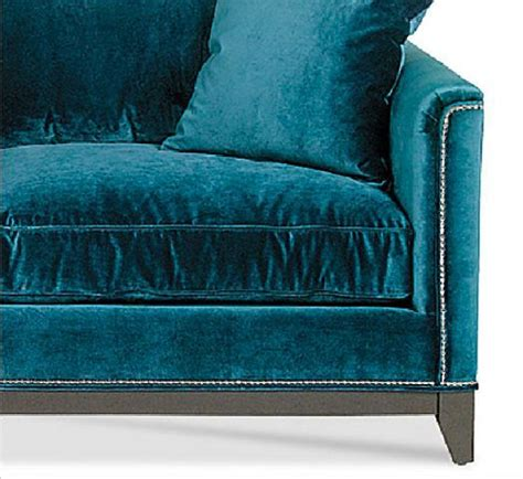 saucyhelp teal velvet sofa detail my peacock blue