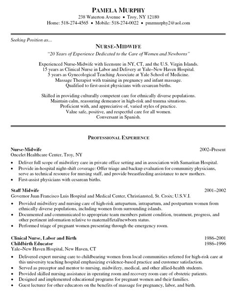 Midwife Resume Objective pin registered nursing resume on