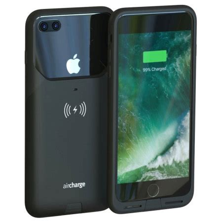 aircharge mfi qi iphone   wireless charging case black