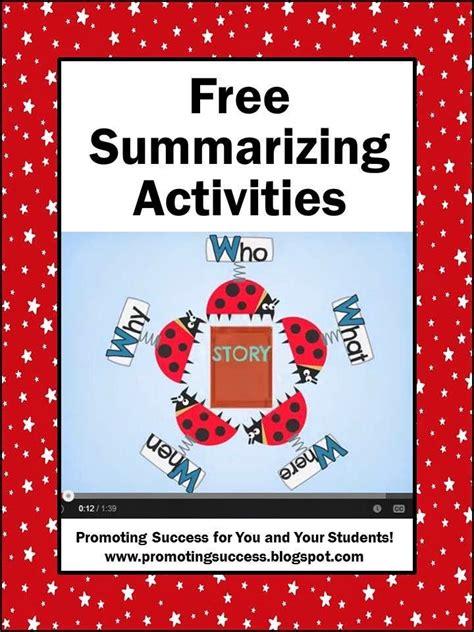 picture books to teach summarizing 17 best ideas about summarizing activities on