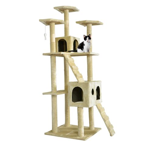 cat tree all color 73 quot cat tree scratcher play house condo