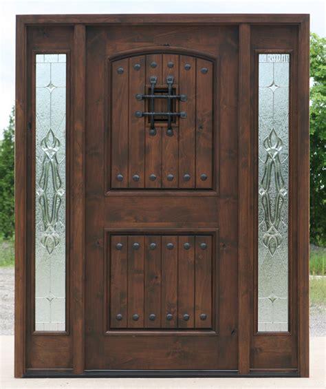 Rustic Front Doors Popular Exterior Rustic Doors With 2 Sidelights