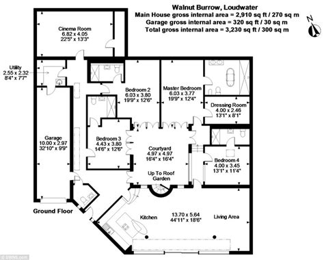 Duplex House Plans With Garage In The Middle loughwater herts 163 2 5million 4 bedroom eco home built