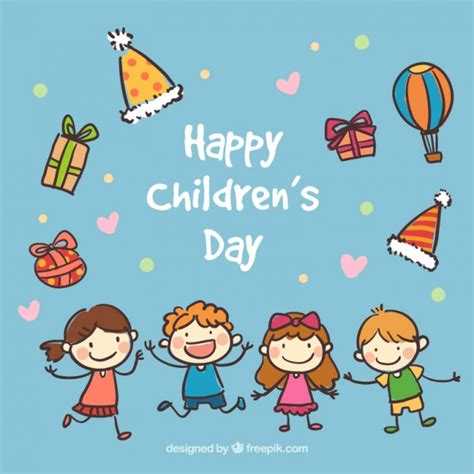 children s day card template happy children s day card vector premium