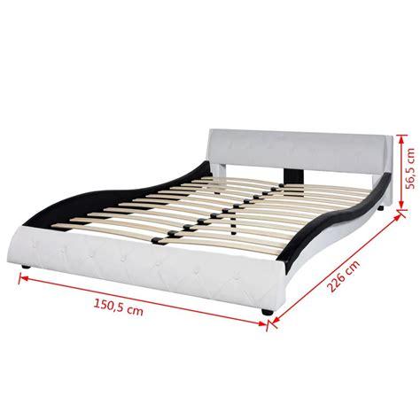 bett 140x220 mit matratze vidaxl bett mit matratze kunstleder 140x200 cm schwarz und