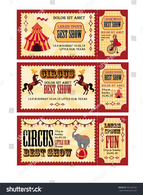 circus layout newspaper circus tickets design tent circus horses stock vector