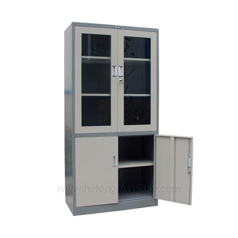 Lemari Kaca Besi lemari pintu kaca hefeng furniture