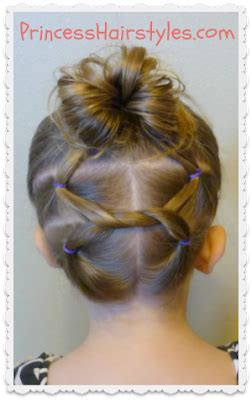 gymnastics hairstyles for fine hair cute hairstyles shoelace knot bun and pigtails