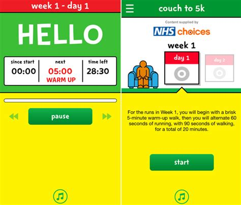 nhs couch 5k apps to keep you fit bt