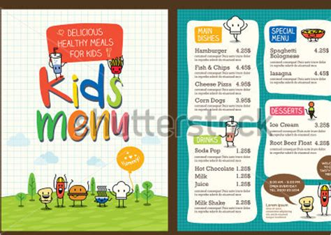 25 kids menu templates free design ideas creative template
