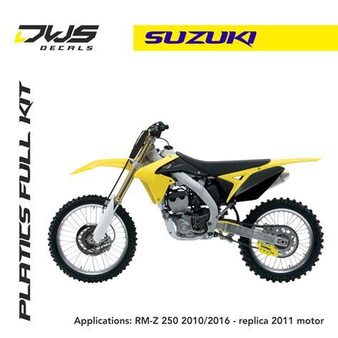 Suzuki Plastics Suzuki Plastics Rm Z 250 2010 2017 Replica 2011 Dws Decals