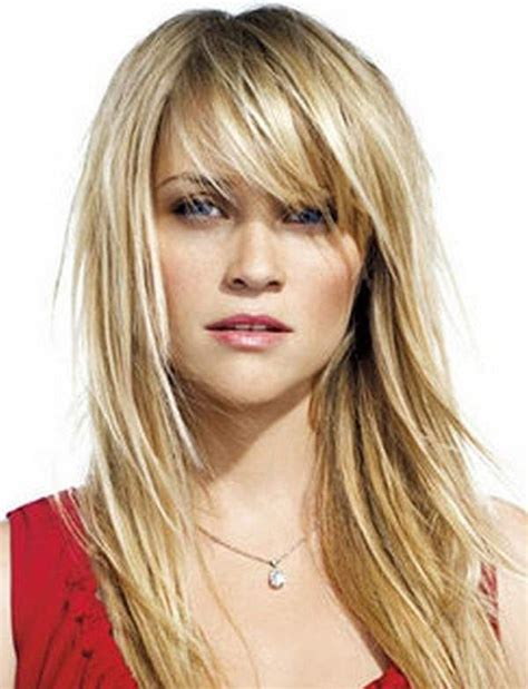 how to cut hair with feathing and bangs long layered haircuts with feathered bangs hair