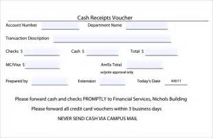 Credit Voucher Template Sle Receipt Voucher Template 8 Free Documents In Pdf Word Excel