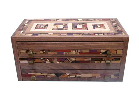 Wooden Box With Drawer by Three Drawer Mosaic Jewelry Box Decorative Jewelry Organizer