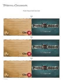 clue card template of the caribbean treasure hunt clue cards disney