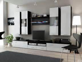 dream 2 white black modern wall units poland cama meble