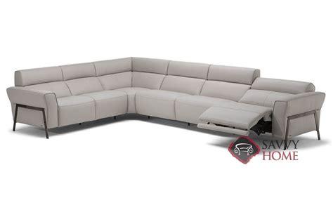 natuzzi leather power reclining sectional neto leather true sectional by natuzzi is fully