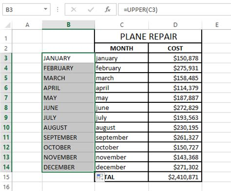 excel format uppercase text change case in excel to uppercase lowercase etc