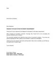 request for quote cover letter template cover letter