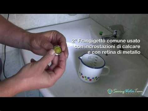 frangigetto per rubinetti test comparativo tra frangigetto e riduttori di flusso
