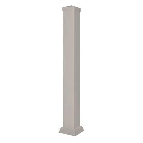 weatherables   vinyl tan railing post sleeve kit wtr