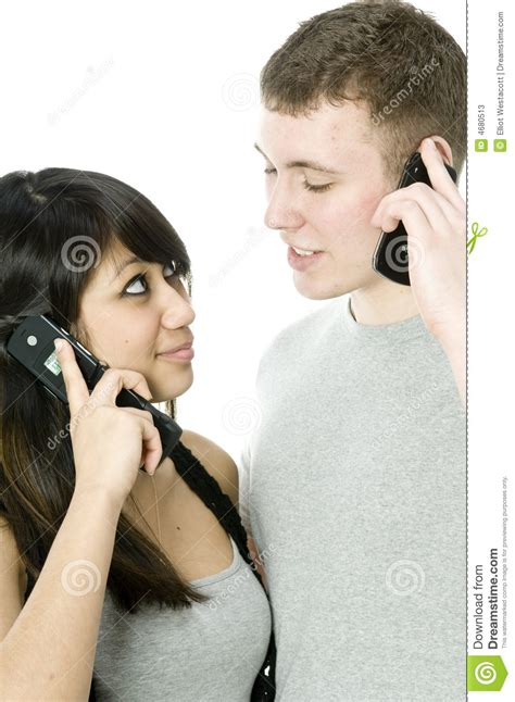 For Couples On Phone On The Phone Stock Photos Image 4680513