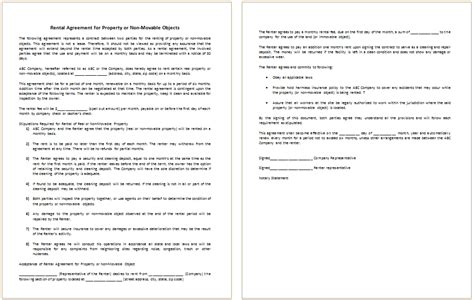 rental management agreement template doc 580621 property management agreement 8 free